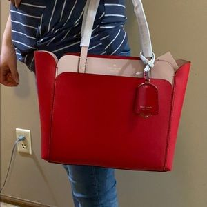 Kate Spade Magnolia double pocket tote in hotchili